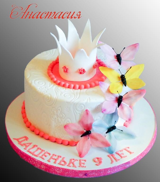 торт для девочки на 5 лет фото